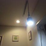ライティングレール経由の照明設置完了