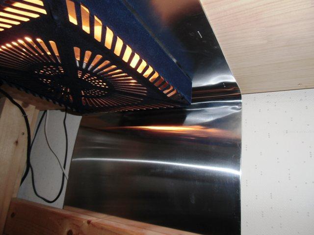 反射材のアルミ板はステープル止め
