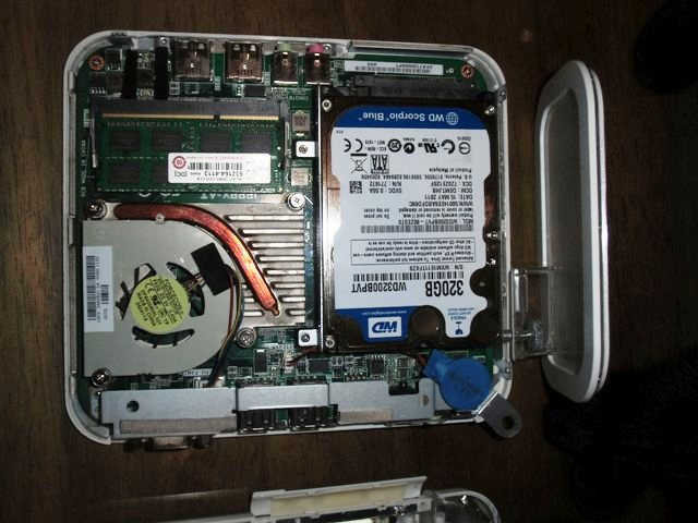 320GBのHDを、1TBのものに換装