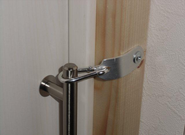 鍵をかけたところ。