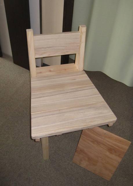 台形の座面仮設置