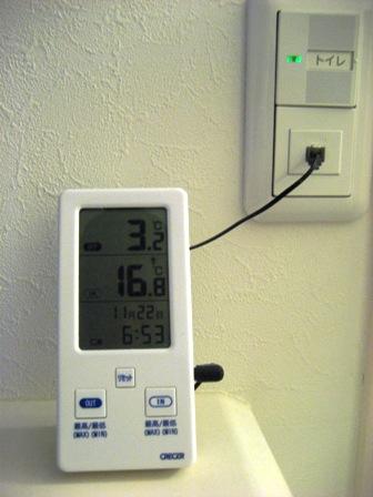 クレセル 室内・室外 デジタル温度計