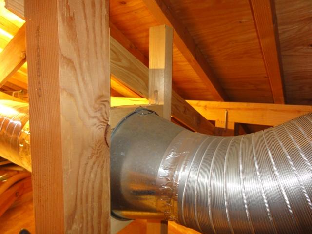 小屋裏換気扇の排気側