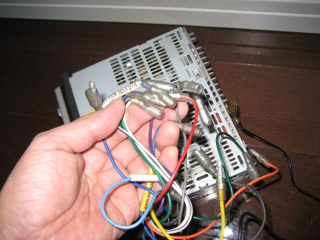 ギボシ端子を外して接続し直す