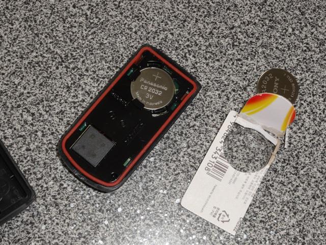 スマートキーの電池の入れ替え完了
