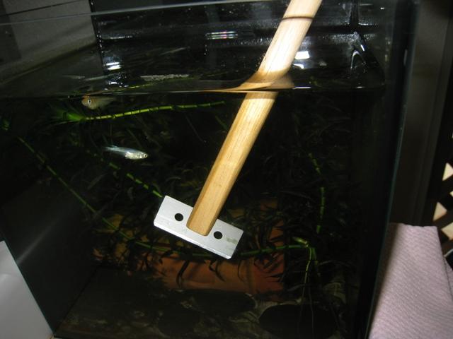 水槽のコケ取りスクレーパーを自作