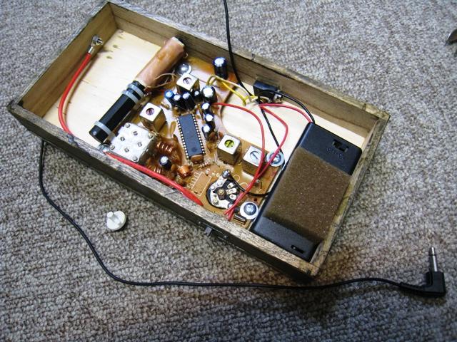 お風呂ラジオ部分を取り出して箱に詰める