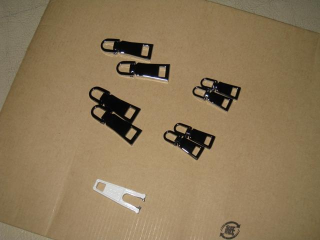 ファスナー 引き手 交換用 8個セット 2色【大4個+小4個】