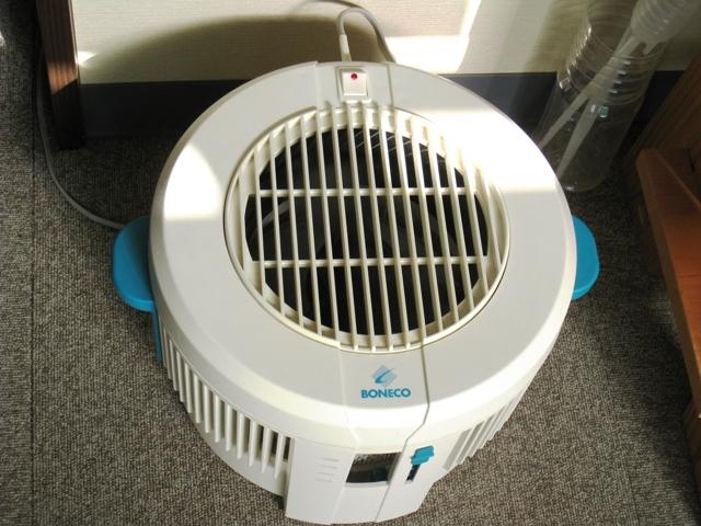 ミストの出ない気化式加湿器