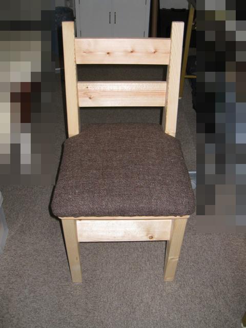 座面のクッション付き椅子DIY