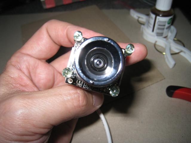 赤外線LED付きWebカメラ